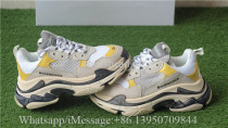 Balenciaga Triple S Fall Winter Wash Old Show Sneaker Yellow White