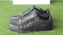 Balenciaga Arena Leather Black Low Top Sneaker