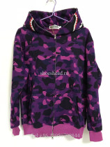 A Bathing Ape Bape Purple Camo Shark Hoodie