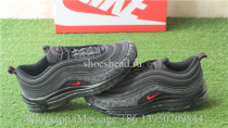 Nike Air Max 97 Bbullet Black Red 3M