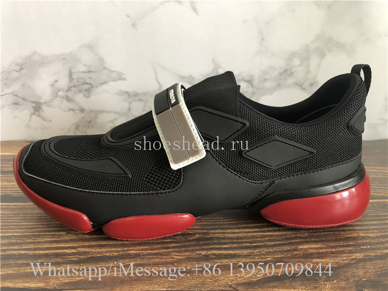 0d577250 Prada Cloudbust Knit Sport Sneakers With Single Grip-Strap