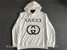Gucci White Hoodie Sweatshirt With Interlocking G