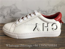 Givenchy Urban Street Low Top Leather Sneaker White Letter With Black Side