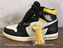 2018 Authentic Air Jordan 1 Not For Resale Yellow