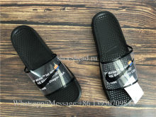 Trendsetter Off White x Nike Benassi Casual Slipper Black
