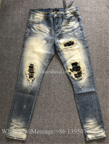 Amiri Denim MX1 Charcoal Slim Broken Jeans
