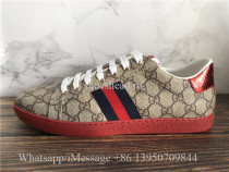 Gucci Ace Embroidered Sneaker Coffee G Logo