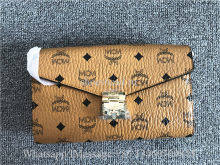 MCM Cognac Visetos Millie Crossbody Bag