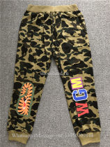 A Bathing Ape Shark Camo Green Bape Pants