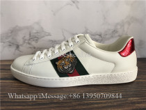 Super Quality Gucci Embroidered Ace Sneaker White Tiger