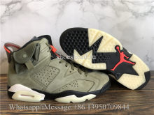 Super Quality Travis Scott x Air Jordan 6 Retro Olive Green