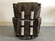 Original Louis Vuitton Christopher Monogram Macassar PM Brown Backpack
