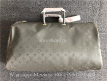 Original Louis Vuitton Keepall Bandouliere Monogram Titanium 50 Grey Duffle