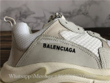 Newest Version Balenciaga Triple S Trainer White Cream