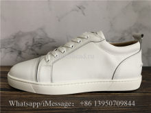 Christian Louboutin Flat Low Top Sneaker White