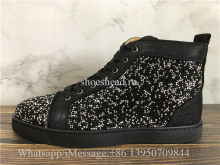 Christian Louboutin Spike Flat High Top Sneaker Black