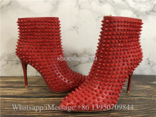 Christian Louboutin High Boots Red Studs