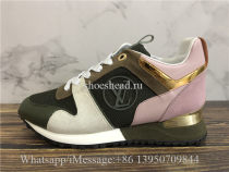 Louis Vuitton Run Away Low Top Sneaker Pink Green Suede