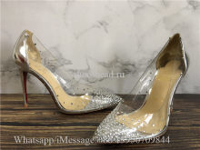Christian Louboutin Degrastrass 100 Crystal studded transparent PVC Pumps