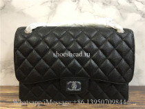 Original Quality Chanel Jumbo Caviar Double Flap Bag 30cm