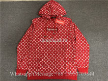 Louis Vuitton x Supreme Red Sweat Hoodie