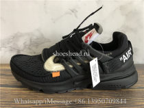 Off White x Nike Air Presto All Black 2018