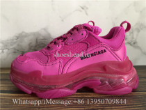 Balenciaga Triple S Clear Sole Trainer Rose Pink