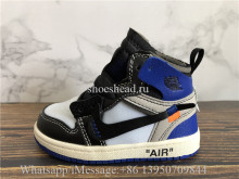 Kid Off White x Air Jordan 1 Royal Black