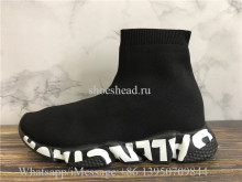 Balenciaga Speed Graffiti Trainers All Black