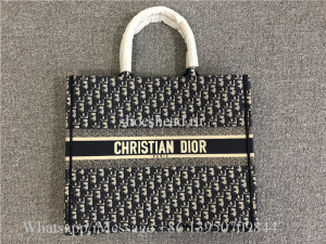 Original Dior Book Tote Blue Dior Oblique Embroidery Bag M1286