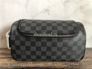 Original Louis Vuitton Toiletry Pouch Damier Graphite Bag
