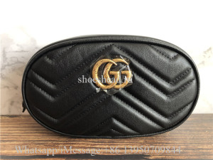 Original Gucci GG Marmont Matelassé Leather Belt Bag