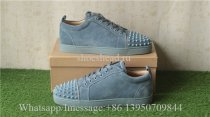 Christian Louboutin Low Top Sneaker Grey Suede