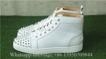 Christian Louboutin Spike Flat High Top Sneaker Pure White