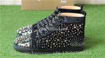Christian Louboutin Flat Spike High Top Sneaker Studdded