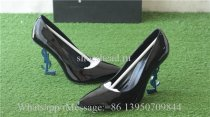 YSL Saint Laurent Blue Heels 10cm