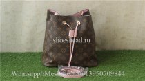Louis Vuitton Bucket Pink Leather Bag