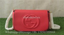 Gucci Red Soho Leather Chain Shoulder Bag