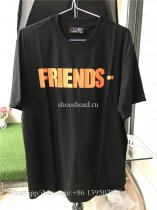 Vlone Friends Tshirt Black with Orange V On Back