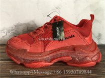 Balenciaga Triple S Clear Sole Sneaker Red