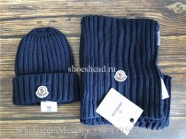 Moncler Blue Sweater Hat & Scarf
