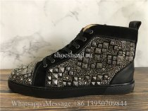 Christian Louboutin Spike Flat High Top Sneaker Studs