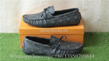 Louis Vuiton Leather Loafer Shoes