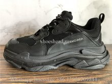 Balenciaga Triple-S Washed Old Show Sneakers All Black