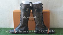 Louis Vuitton The Knee Monogram Leather Boots