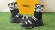 Fendi FF Print Sock Boot Sneakers Black