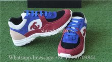Chanel Suede Low Sneaker Blue Black Red
