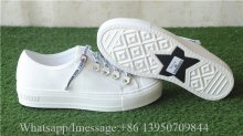 Christian Dior Low Top Sneaker White Canvas