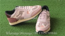 Valentino Camo Runner Shoes Pink