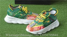 Versace Chain Reaction Sneaker Flower Green